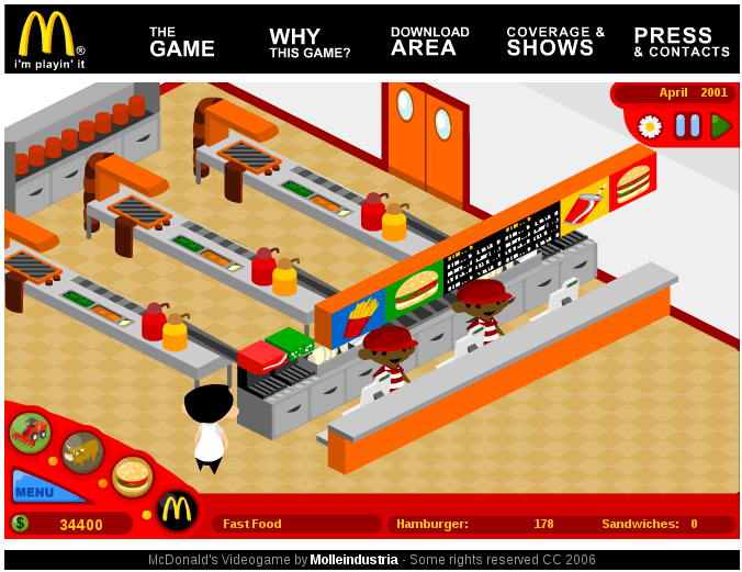 mcdonalds video game