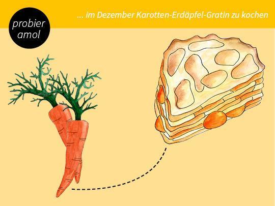 Karotten-Erdäpfel Gratin
