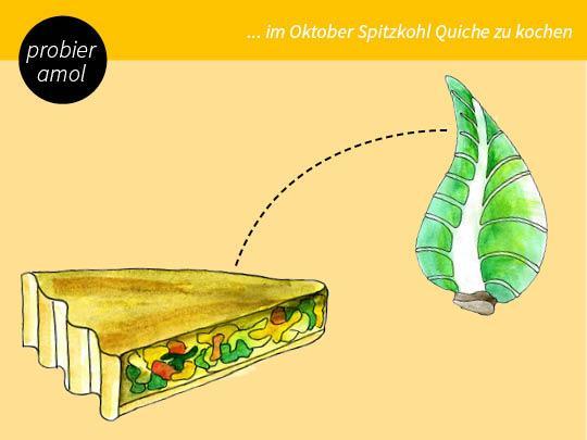 Spitzkohl-Quiche