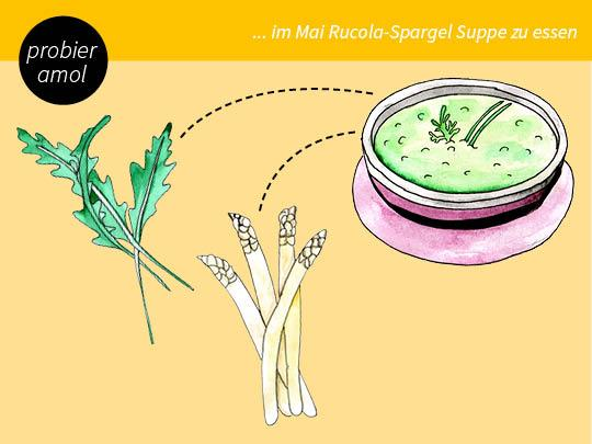 Spargel-Rucola-Suppe