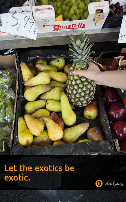 Exotische Früchte sollten etwas besonderes auf dem Speiseplan sein.