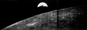 Die Erde, vom Mond aus fotografiert. (Quelle: NASA)